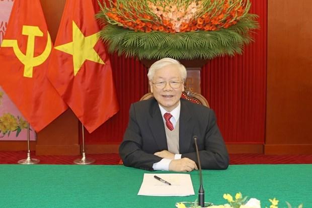 Felicitations d'amis internationaux pour le SG et president vietnamien Nguyen Phu Trong hinh anh 1