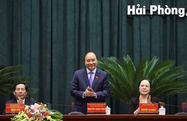 Le PM exhorte Hai Phong a s'appuyer sur trois piliers economiques hinh anh 1