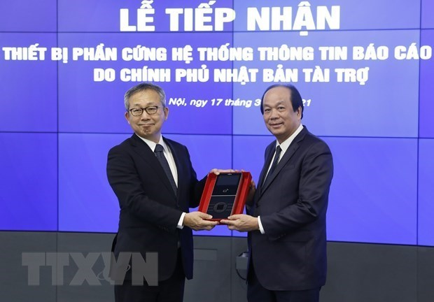 Le Vietnam recoit de l'equipement japonais pour le systeme d'information du gouvernement hinh anh 1