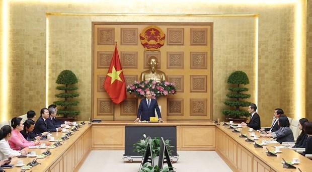 Le PM Nguyen Xuan Phuc recoit l'Association du developpement de la cooperation economique de l'ASEAN hinh anh 1