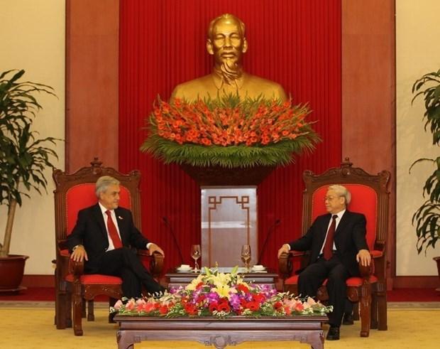 Vietnam et Chili maintiennent une bonne amitie traditionnelle et une cooperation efficace hinh anh 1