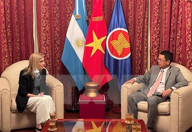 La agencia de noticias argentina Télam quiere fortalecer la cooperación con su contraparte de VNA hinh anh 1