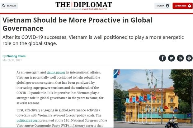 The Diplomat : le Vietnam devrait etre plus proactif en matiere de gouvernance mondiale hinh anh 1