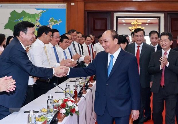 Le president Nguyen Xuan Phuc se rend a Da Nang hinh anh 1