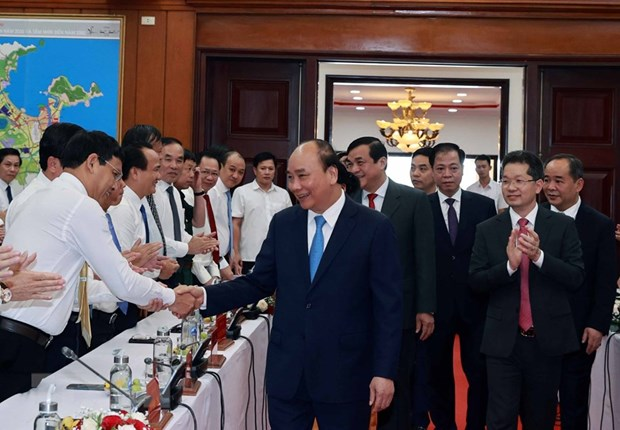 Le president Nguyen Xuan Phuc se rend a Da Nang hinh anh 3