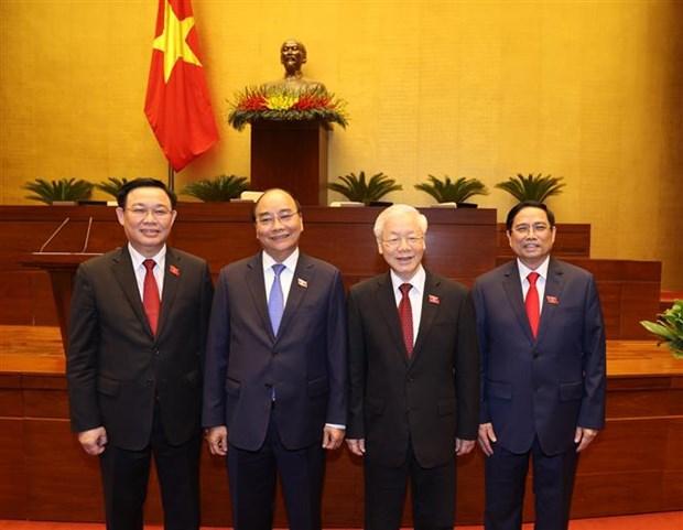 Les messages de felicitations aux nouveaux dirigeants vietnamiens affluent hinh anh 1