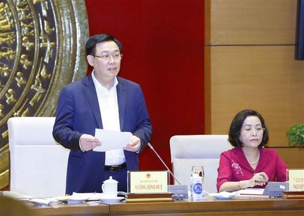 Vuong Dinh Hue travaille avec la commission chargee des deputes de l'Assemblee nationale hinh anh 1