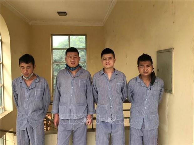 Quatre Chinois arretes pour entree illegale dans la province de Tuyen Quang hinh anh 1