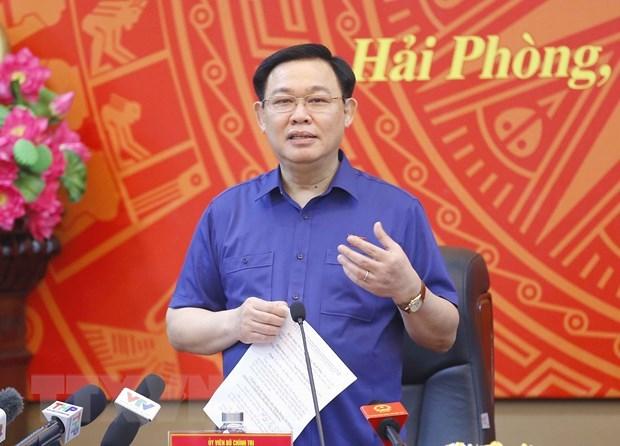 Le president de l'Assemblee nationale Vuong Dinh Hue a Hai Phong hinh anh 1