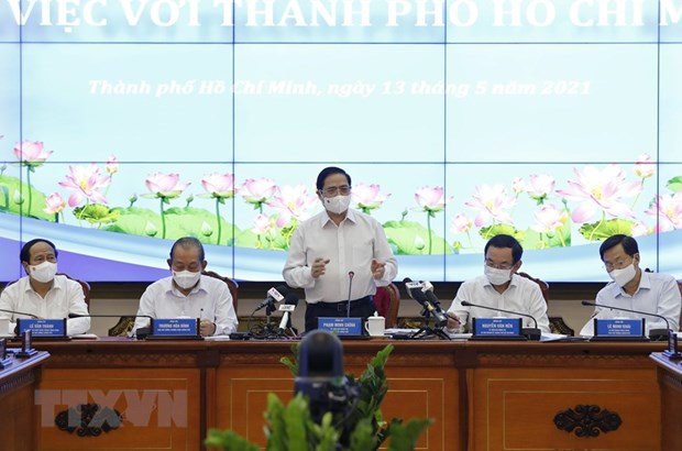Le Premier ministre Pham Minh Chinh travaille avec Ho Chi Minh-Ville hinh anh 1