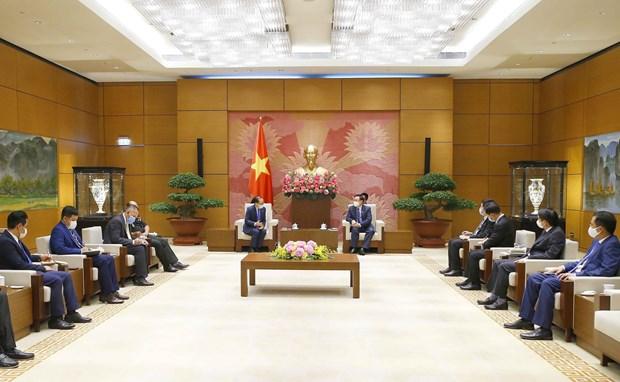 Le president de l'Assemblee nationale recoit l'ambassadeur du Cambodge hinh anh 2