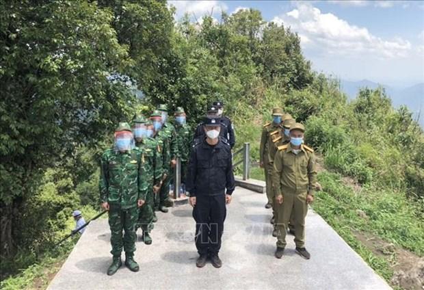 Les garde-frontieres du Vietnam, de la Chine et du Laos cultivent leurs liens hinh anh 1