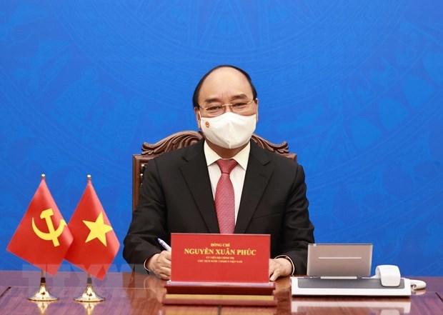 Le president Nguyen Xuan Phuc envoie une lettre a son homologue americain Joe Biden hinh anh 1