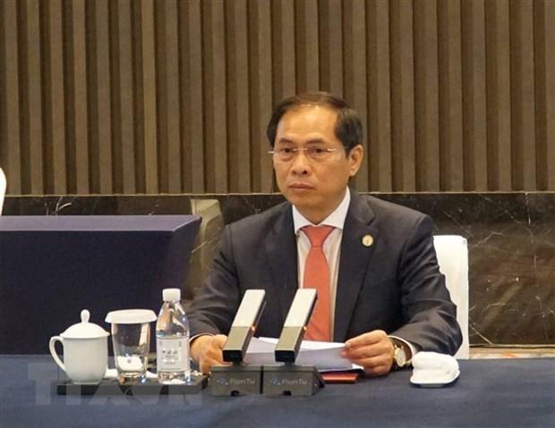 Le Vietnam participe a la 6e reunion des ministres des Affaires etrangeres Mekong - Lancang hinh anh 1