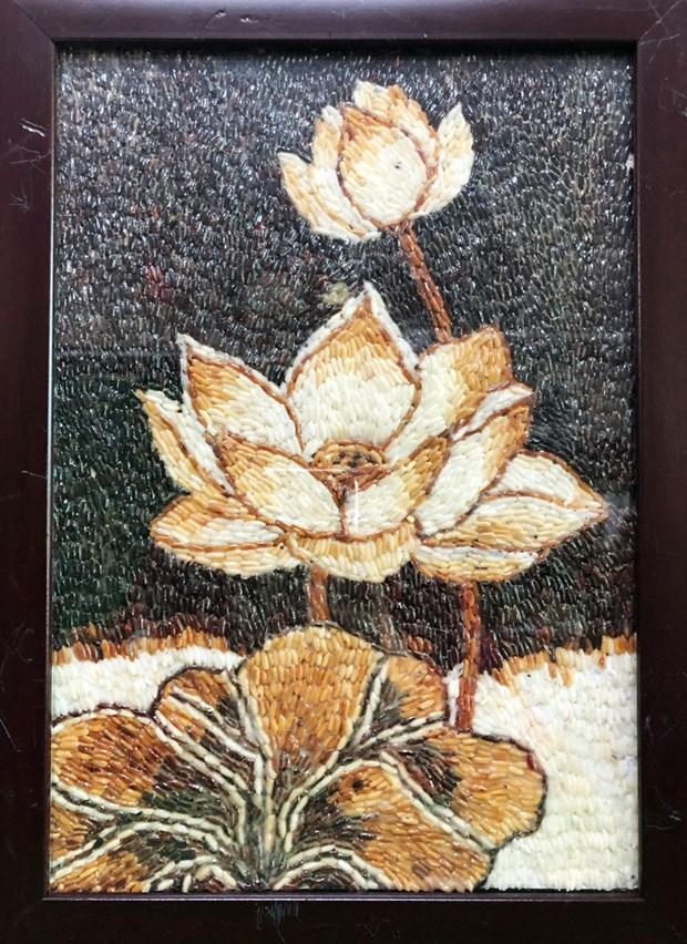A Can Tho, des collegiens proposent de faire de l'art avec du riz et des materiaux recycles hinh anh 2