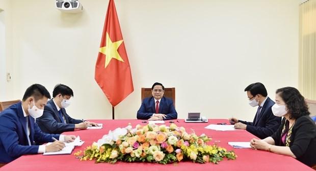 Le Premier ministre parle au directeur general de l'OMS hinh anh 1