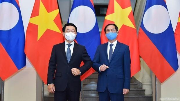Vietnam-Laos : rencontre entre les deux chefs de la diplomatie hinh anh 1