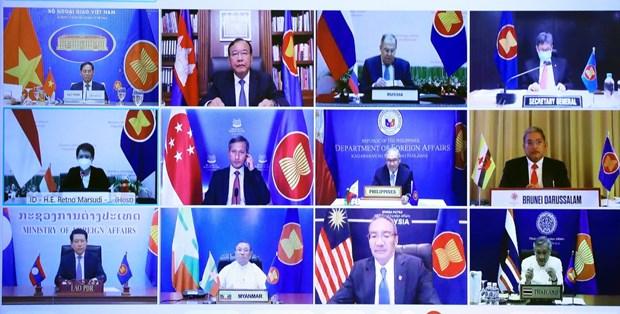 Le Vietnam assiste a la reunion speciale des ministres des Affaires etrangeres ASEAN-Russie hinh anh 2