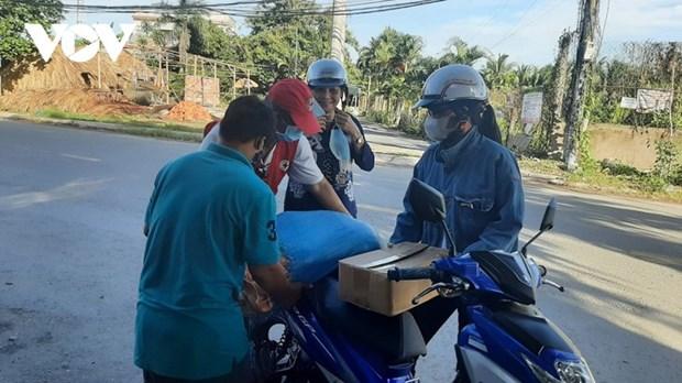 A Tien Giang, un marche gratuit pour conjurer la crise du coronavirus hinh anh 2