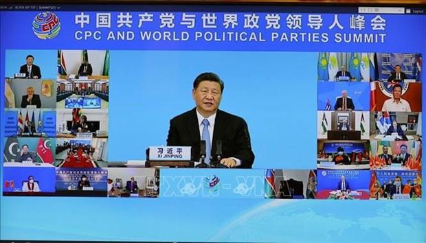 Le leader du Parti au Sommet entre le PCC et les Partis politiques du monde hinh anh 3
