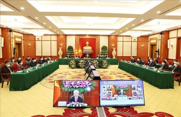 Le leader du Parti au Sommet entre le PCC et les Partis politiques du monde hinh anh 2