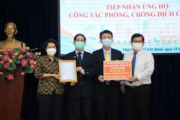 Consulats generaux et entreprises etrangeres soutiennent la lutte anti-Covid-19 hinh anh 1