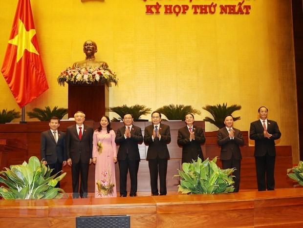 La vice-presidente, les chefs de la Cour et du Parquet populaires supremes reelus hinh anh 1