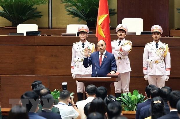 Le Laos et la Chine felicitent les dirigeants vietnamiens nouvellement elus hinh anh 1