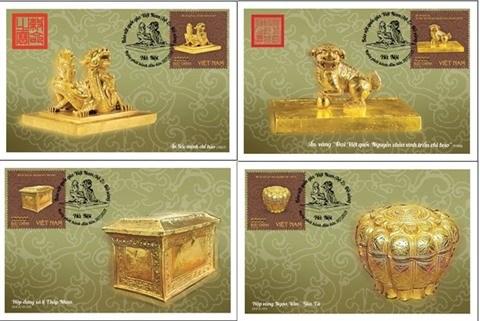 Quatre tresors nationaux en or du Vietnam auront leurs timbres hinh anh 1