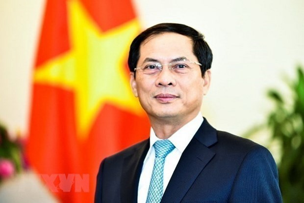 Le chef de la diplomatie chinoise felicite le ministre des Affaires etrangeres Bui Thanh Son hinh anh 1