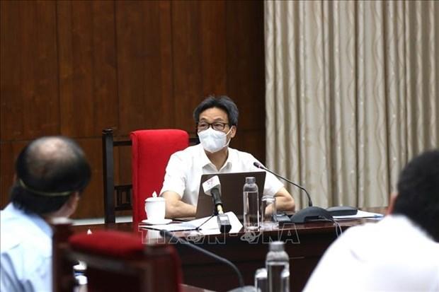 Le vice-PM Vu Duc Dam exhorte a veiller sur le personnel de sante et la population hinh anh 1
