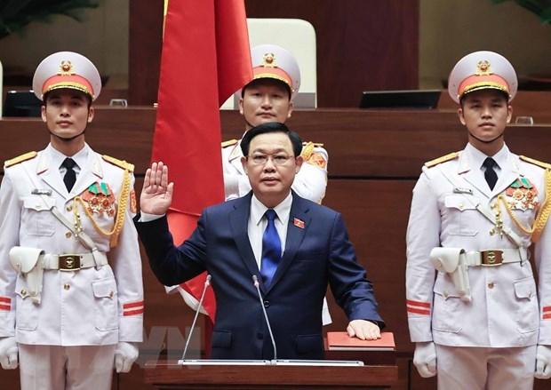 Felicitations du Cambodge au president de l'AN Vuong Dinh Hue hinh anh 1