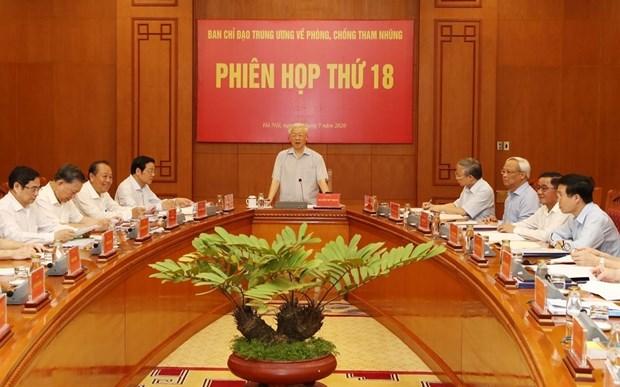 Le chef du Parti presidera la 20e session du Comite de pilotage anti-corruption hinh anh 1