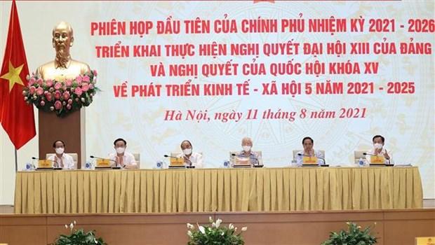 Premiere reunion du gouvernement du mandat 2021-2026 hinh anh 1