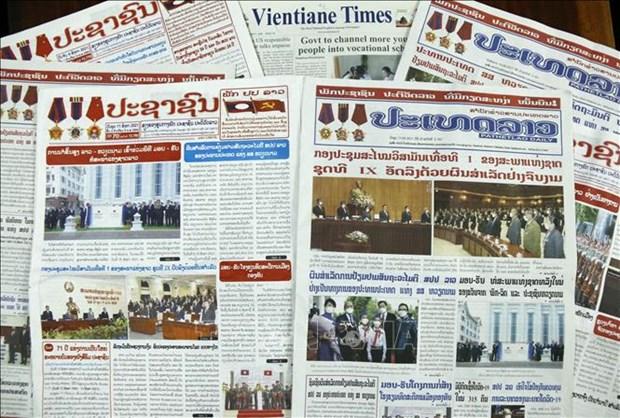 """La visite officielle au Laos du president vietnamien """"couronnee d'un grand succes"""" hinh anh 1"""