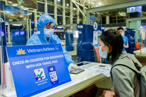 Vietnam Airlines teste le IATA Travel Pass sur un vol Hanoi-Narita hinh anh 1