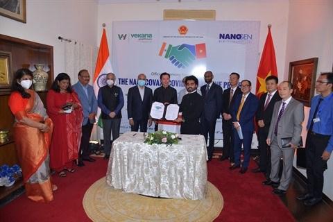 Nanogen et Vekaria Healthcare LLP signent un accord sur le vaccin vietnamien Nano Covax hinh anh 2
