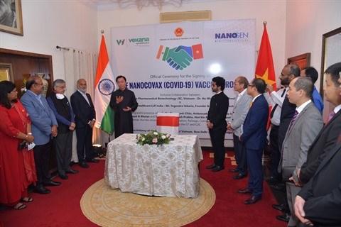 Nanogen et Vekaria Healthcare LLP signent un accord sur le vaccin vietnamien Nano Covax hinh anh 1