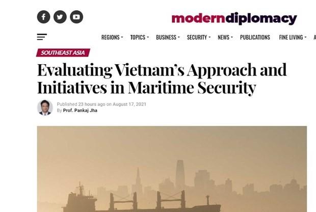 Modern Diplomacy evalue l'approche et les initiatives du Vietnam dans la securite maritime hinh anh 2