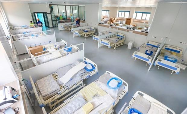 Mise en service prochaine d'un hopital de traitement de patients de SARS-CoV-2 a Hanoi hinh anh 2