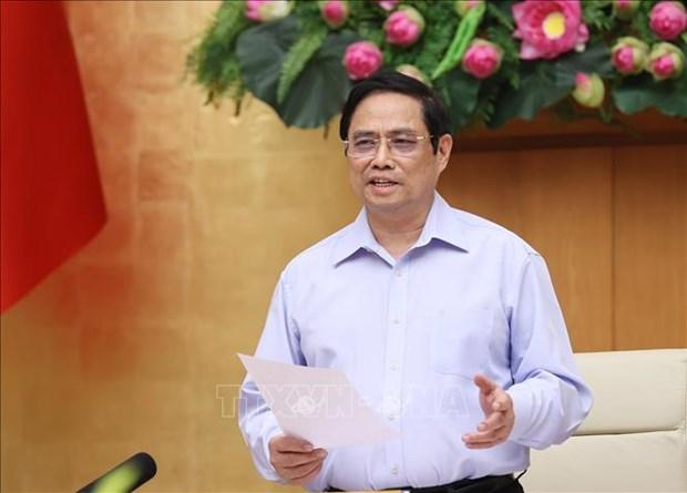 Le PM preside une reunion nationale en ligne sur la reponse au Covid-19 hinh anh 1