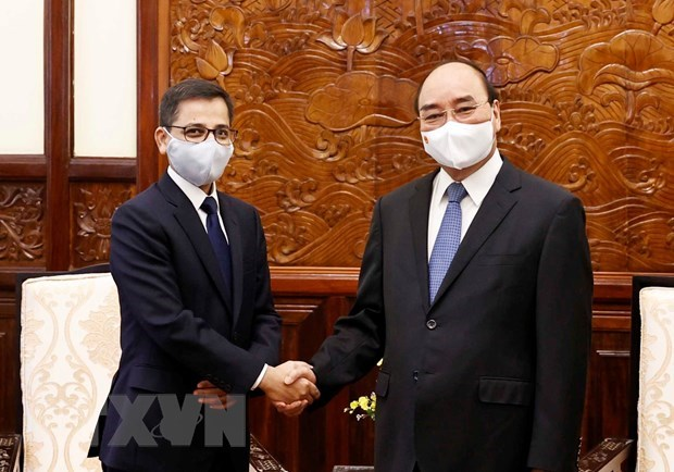 Le president Nguyen Xuan Phuc recoit l'ambassadeur d'Inde hinh anh 1
