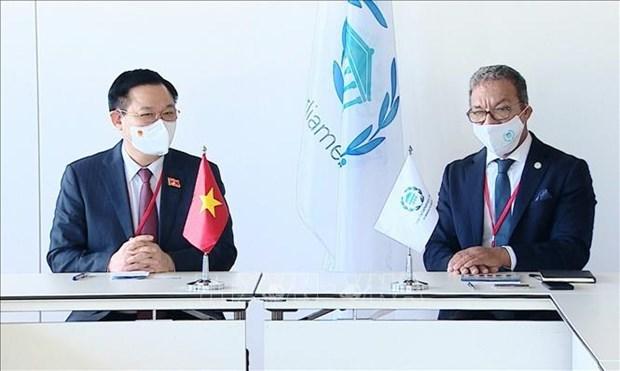 Le president de l'AN rencontre le president de l'UIP hinh anh 1