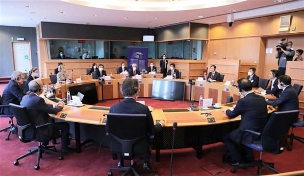 Le president de l'Assemblee nationale s'entretient avec le president du Parlement europeen hinh anh 2