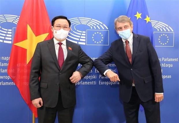 Le president de l'Assemblee nationale s'entretient avec le president du Parlement europeen hinh anh 1