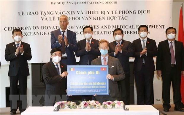 La Belgique fait don de 100.000 doses de vaccin au Vietnam hinh anh 1