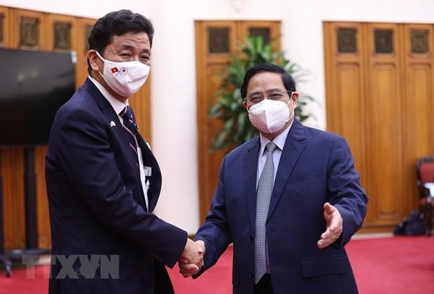 Le Premier ministre Pham Minh Chinh recoit le ministre japonais de la Defense hinh anh 1