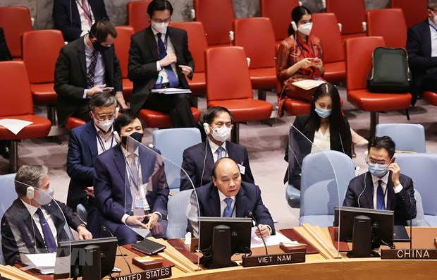Climat : Le president Nguyen Xuan Phuc participe a une reunion du Conseil de securite de l'ONU hinh anh 1
