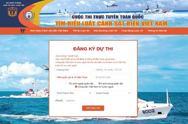 De nombreux Vietnamiens participent au concours de connaissance sur les gardes-cotes hinh anh 1