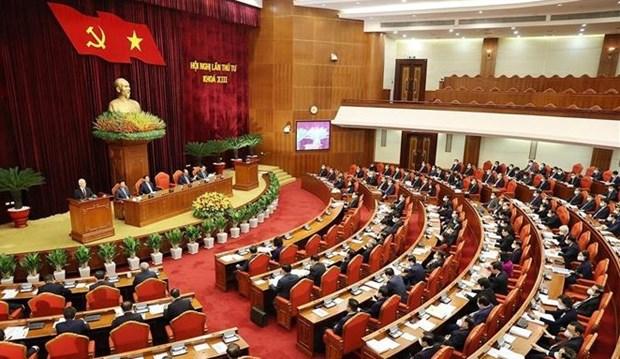 Troisieme journee du 4e Plenum du Comite central du Parti, 13e exercice hinh anh 1